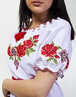 Женское вышитое платье х/б