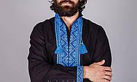 Вышитая мужская рубашка на домотканом лене, разные расцветки
