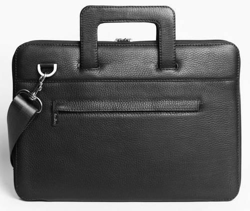 """Превосходная сумка для MacBook 13"""", натуральная кожа ISSA HARA B13 (11-00) black"""