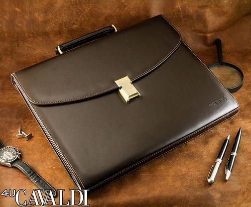 Портфель деловой из искусственной кожи 4U Cavaldi черный B-195