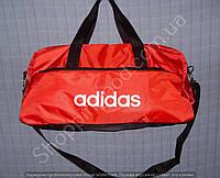 Багажная сумка Adidas 114001 большая (55 см х 27 см х 25 см) красная спортивная дорожная из полиэстера