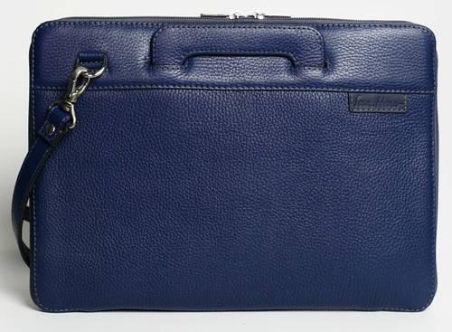 """Современная сумка для MacBook 13"""", натуральная кожа ISSA HARA BSL13 (13-00) dark blue"""
