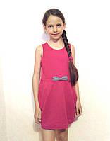 Платье для девочки с карманами розовое Sofie Gray 122 см хлопок 95%