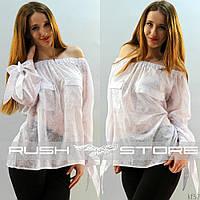 Красивая батистовая блузка
