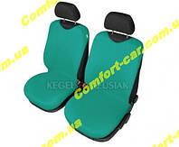 Чехлы майки на передние сиденья Kegel Зеленые