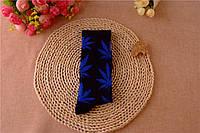Носки HUF plantlife, черные с синим листом конопли Д17
