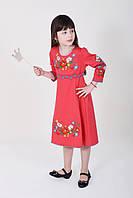 Красное платья с этнической вышевкой