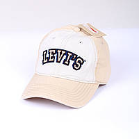 Бейсболка оригинал Levi's® бежевая с логотипом