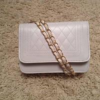 Женская сумка клатч Стеганная белая