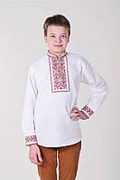 Вышитая рубашка на домотканом полотне, фото 1