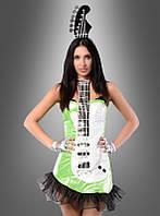 Платье карнавальное ярко-зеленое
