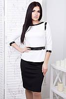 Костюм женский юбка и блуза в 5ти цветах IR Аскольд