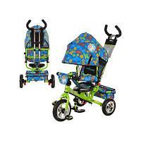 Детский велосипед Чудо остров, надувные три колеса,зелено-синий, LE-3-01