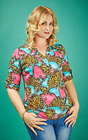 Красивая женская блуза большого размера