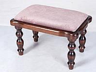 Банкетка Тринити темный орех, деревянная резная