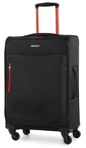 Потрясающий тканевый 4-колесный чемодан 49 л. Members Hi-Lite (S), 922607 черный