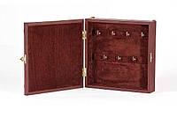 Футляр для ключей настенный (натуральная кожа) с художественной вставкой