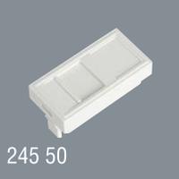 Пластина для телефонной или компьютерной розетки RJ 45x22,5  для установки в люк, кабель-канал, настенный бокс