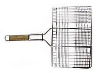 Решетка-гриль для мяса 26х35 см, с ручкой дерево, 59 см