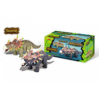 Домашний динозавр, игрушка интерактивная 6632-1, свет/звук, передвигается, на батарейках