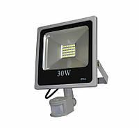 Прожектор светодиодный 30Вт с сумеречным датчиком и сенсором движения