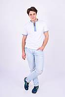Мужская футболка вышита снежинками, фото 1