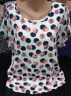 Летняя женская блуза свободного кроя  1805.2