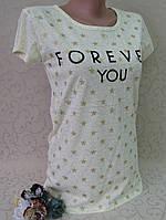 Футболка женская из мягкого 100% коттона, Турция. Женские футболки модные турецкие, фото 1
