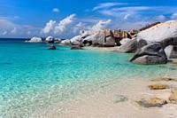 """Фотообои """"Каменный пляж"""", Фактурная текстура (холст, иней, декоративная штукатурка)"""