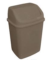 Ведро для мусора 18л с крышкой, Алеана