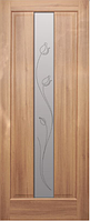 Полотно дверное ПВХ Тиффани со стеклом