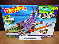 Трек Хот Вилс Острые лезвия Молниеносные половинки Hot Wheels Split Speeders Blade Raid Track