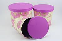 """Красивые коробки для подарка. """"Ведро"""" фиолетовая (3 размера)"""