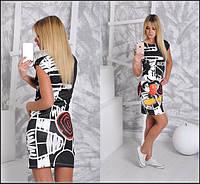 Женское легкое платье с принтом Микки