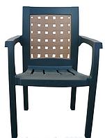 Кресло пластиковое Хризантема зеленое стул пластиковый