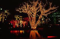"""Светодиодная новогодняя гирлянда на деревья """" луч -3"""" жёлтая"""