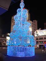 Светодиодная гирлянда нить 10м, 24v синяя