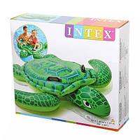 Плотик детский 57524 «Надувная черепаха», 150*127см, 2 ручки, 2 воздушные камеры, ремкомплект