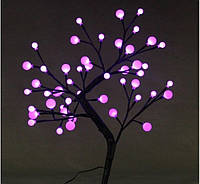 Светодиодное дерево Бонсай Снежные шарики  60см белое