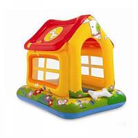 Надувной домик для детей 57429 «Любимый щенок», Intex, 1+, высота бортика 14 см, 142*117*122см