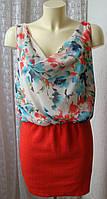 Платье летнее модное мини Zara р.46-48 6762