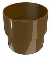 Соединитель водосточной трубы Regenau D80 (коричневый)