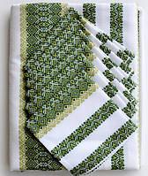 Скатерть вышитая зеленая