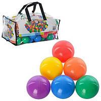 Пластиковые шарики для сухого бассейна 49602, 6 цветов, диаметр 6,5 см, 100 шт. в сумке