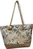 Стильная пляжная сумка, текстильная.