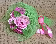 """Букет композиция цветы из конфет """"5 роз"""" цвет розовый"""