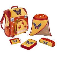 """Ранец ортопедический Hama """"Butterfly"""" (Бабочка) на 2 замка, с наполнением 5 предметов"""