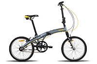 Велосипед 20'' PRIDE MINI 3sp RST серо-оранжевый матовый 2016