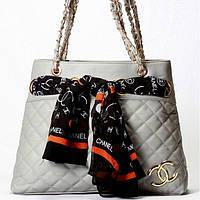 Женская сумка CHANEL серая