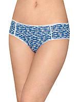 Женские трусы мини шорты (Синий с белым)